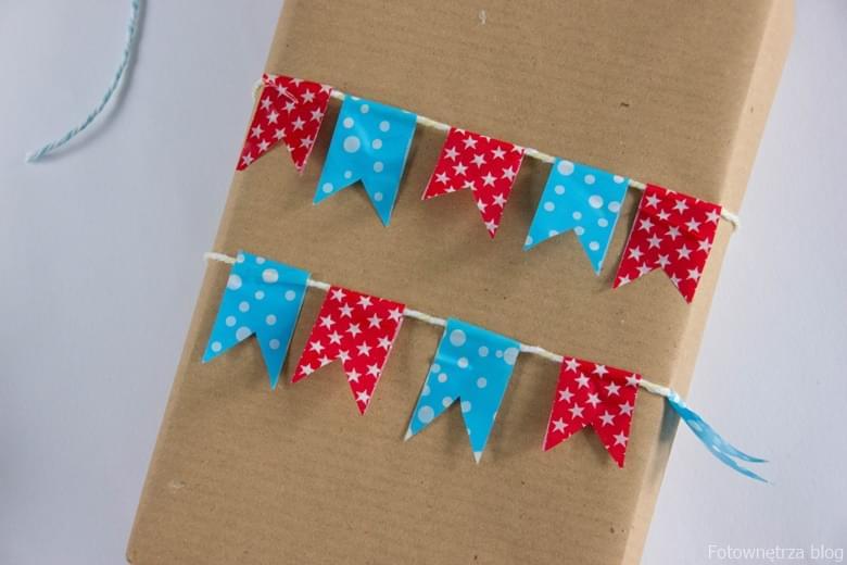 Jak zapakować prezent z użyciem washi tape