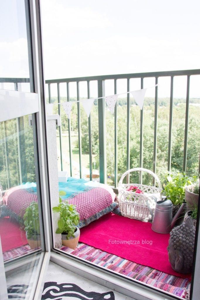 balkon w stylu boho